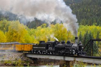 Durango & Silverton Narrow Gauge RR round trip for two.