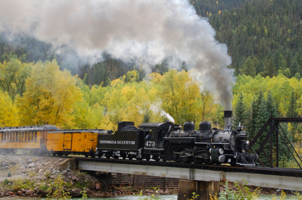 Durango & Silverton Narrow Gauge RR round trip for two.