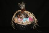 Beauty treatment basket by Sherri's salon.
