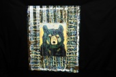 Corrugated-framed bear by Tippy Canoe Durango
