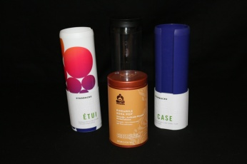 Drink bottles, covers and tea by Starbucks