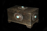 Large turquoise jewelry box by J