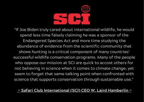 SCI statement biden